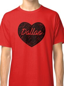 I Love Dallas - I Heart DAL (Cursive) Classic T-Shirt
