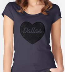 I Love Dallas - I Heart DAL (Cursive) Women's Fitted Scoop T-Shirt