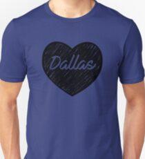 I Love Dallas - I Heart DAL (Cursive) T-Shirt
