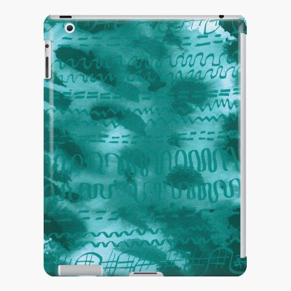 Teal hieroglyphics iPad Snap Case