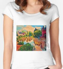 COUNTRY COTTAGES 1D-T Women's Fitted Scoop T-Shirt