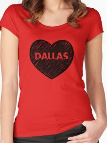 I Love Dallas - I Heart DAL (Urban) Women's Fitted Scoop T-Shirt