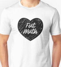 I Love Fort Worth - I Heart Ft Worth [Cursive] Unisex T-Shirt
