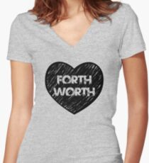 I Love Fort Worth - I Heart Ft Worth [Urban] Women's Fitted V-Neck T-Shirt