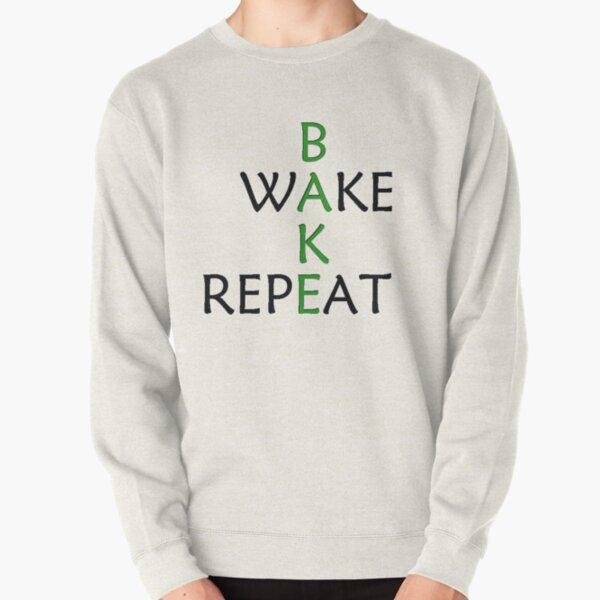 Wake And Bake Pot 420 Weed Marijuana Cannabis Funny Hoodie Pullover