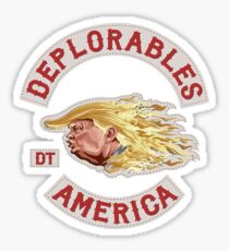 Deplorables for Trump Sticker