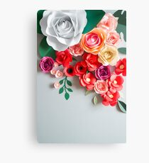 Paper flowers Canvas Print