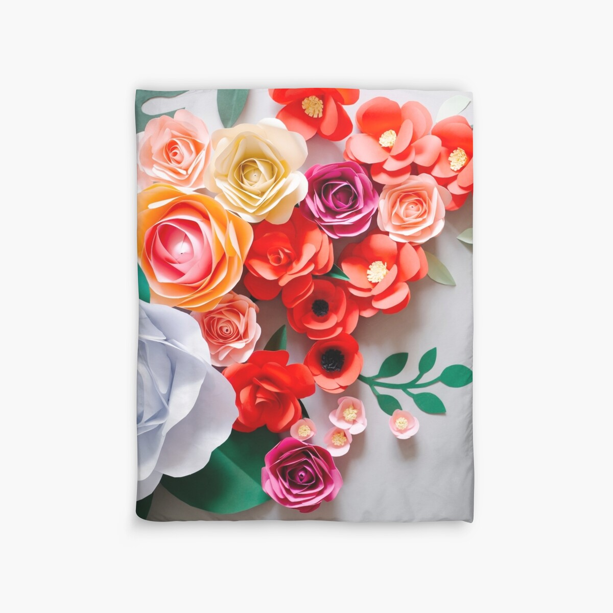 Quot Paper Flowers Quot Duvet Covers By Alita Ong Redbubble