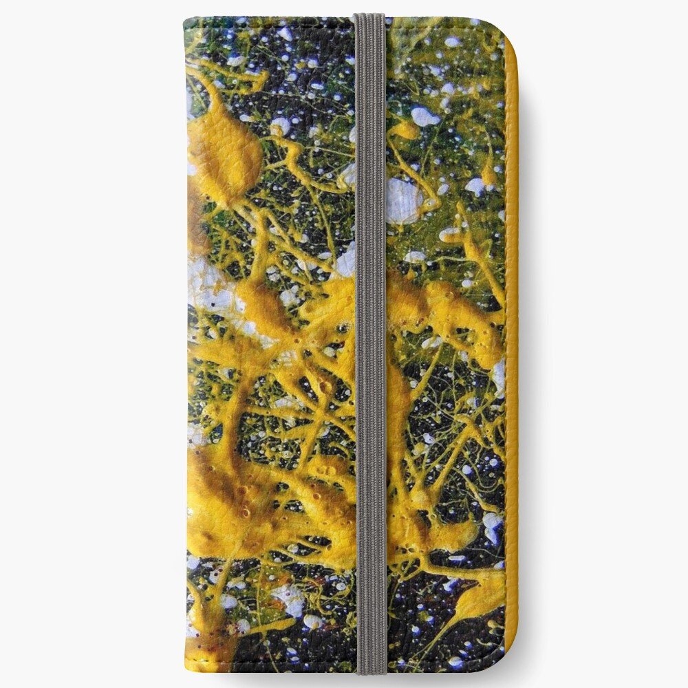 FUNKY YELLOW SPACE GALAXY iPhone Wallet
