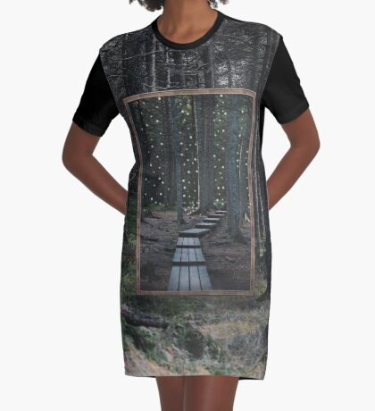 Mirror Of The Soul Graphic T-Shirt Dress