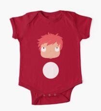 Ponyo likes you! Short Sleeve Baby One-Piece