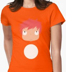 Ponyo likes you! Women's Fitted T-Shirt