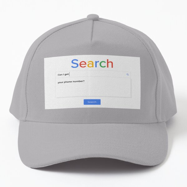How to get your crush's phone number Baseball Cap