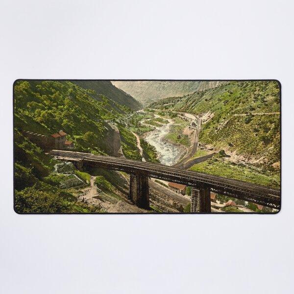 Gotthardbahn bei Giornico im Tessin Mauspad XXL