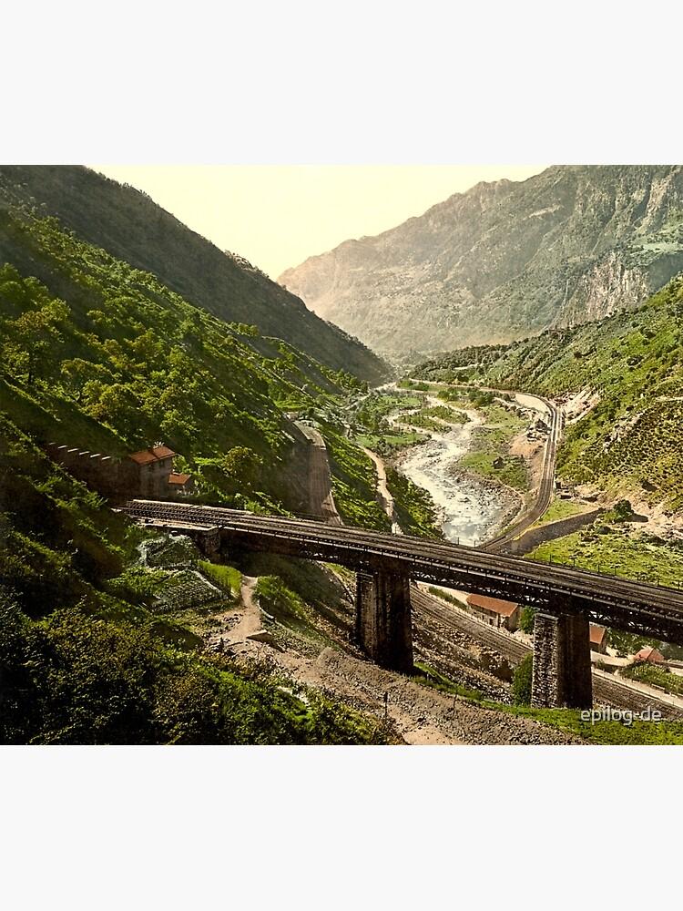 Gotthardbahn bei Giornico im Tessin von epilog-de