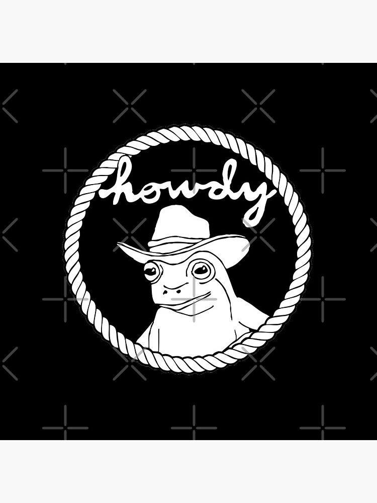 howdy cowboy frog by craftordiy