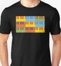Music Keyboard Piano Synth Pop Art T-Shirt