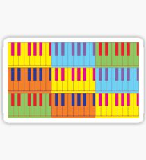 Music Keyboard Piano Synth Pop Art Sticker