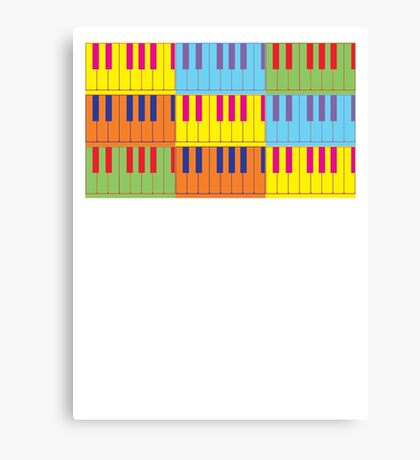 Music Keyboard Piano Synth Pop Art Canvas Print