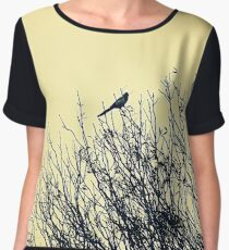 Magpie perched on tree Women's Chiffon Top