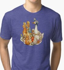 Children's Story Book Animals Tri-blend T-Shirt