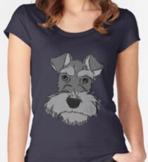 Adorable Miniature Schnauzer Women's Fitted Scoop T-Shirt