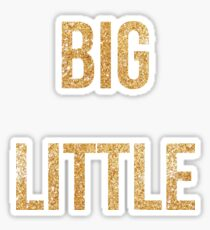 big lil gold Sticker