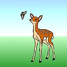The fawn and the butterfly by missmoneypenny