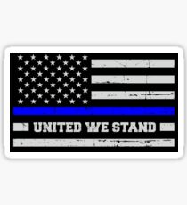 Thin Blue Line Flag | Blue Lives Matter United We Stand for Police & Cops Sticker