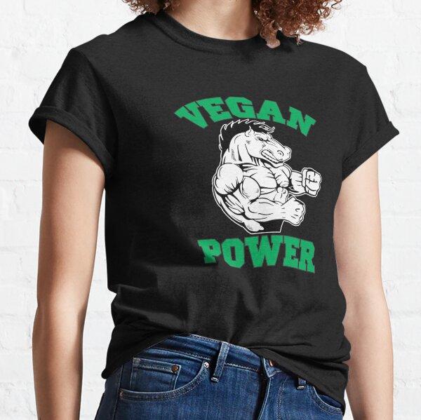 Vegan Power Horse Vegan Lifestyle Classic T-Shirt