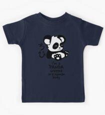 I'm a cute little panda Kids Tee