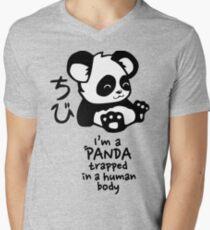 I'm a cute little panda Men's V-Neck T-Shirt