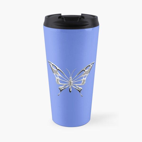 Chrome Butterfly Travel Mug