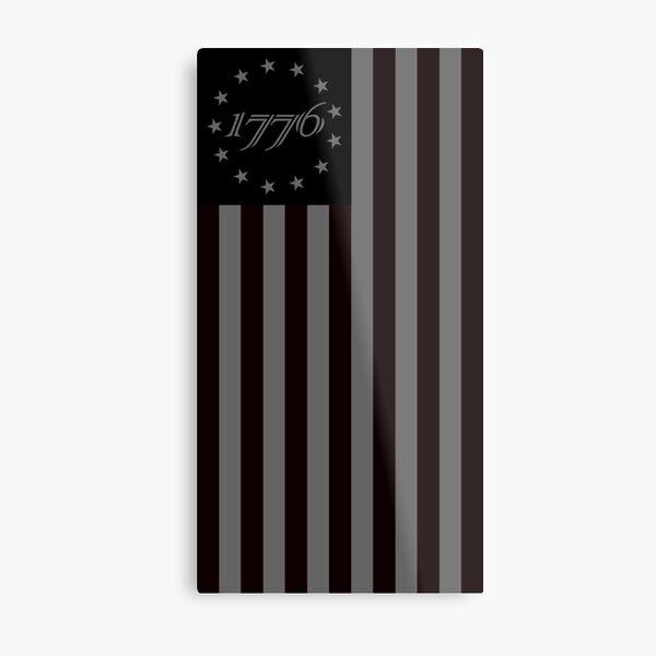 1776 black  Metal Print