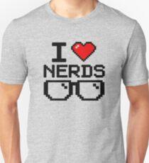 I Love Nerds Funny Unisex T-Shirt