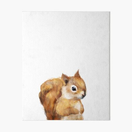 Little Squirrel Art Board Print