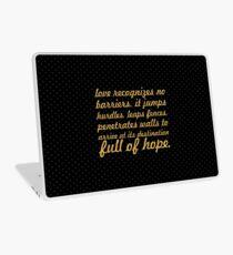"Love recognizes... ""Maya Angelou"" Inspirational Quote Laptop Skin"