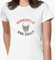 Horrorflix and Chill Women's Fitted T-Shirt