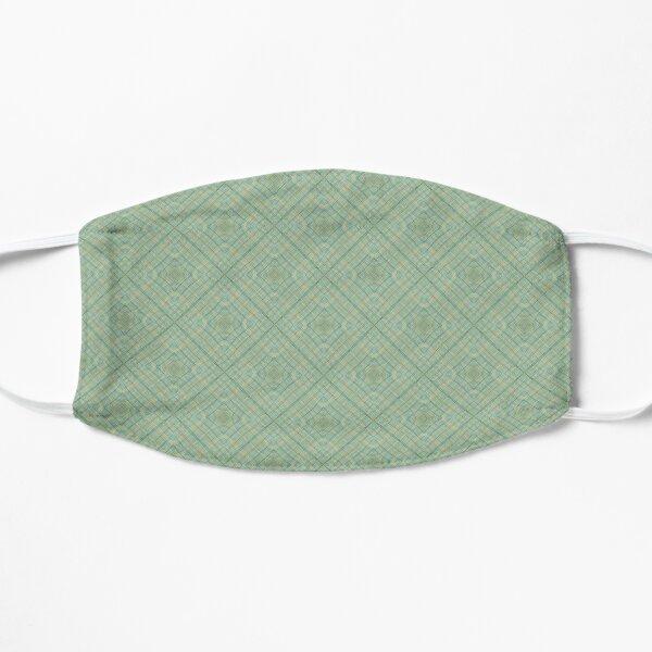 Pastel Green Design Flat Mask