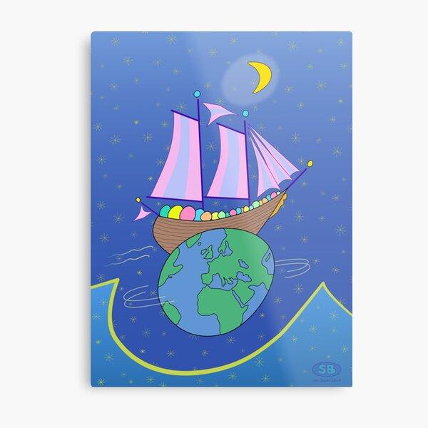 Sailing Across the World Metal Print