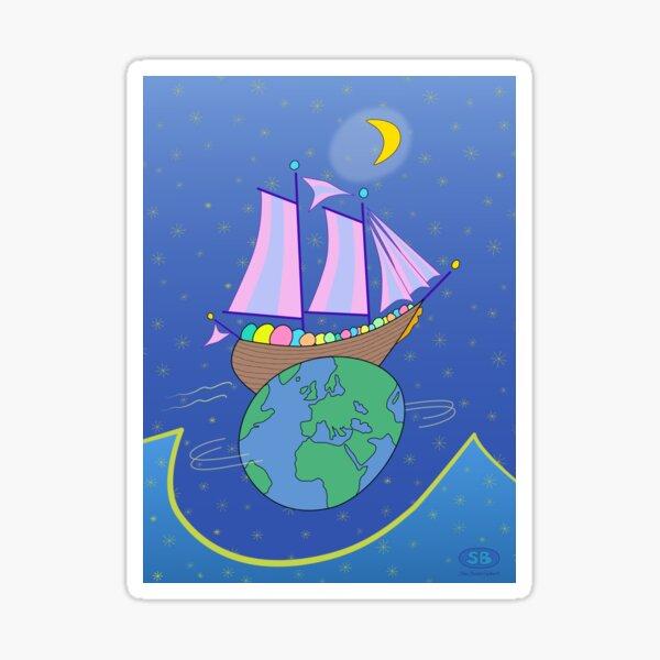 Sailing Across the World Sticker