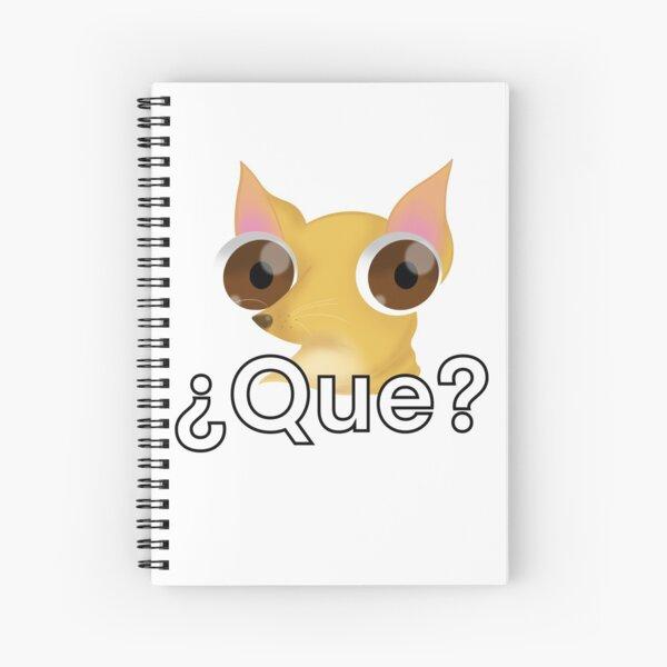 Que dog  Spiral Notebook