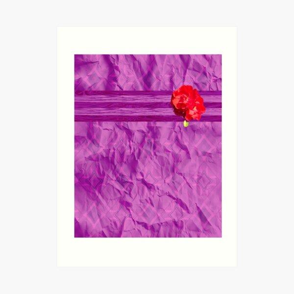 Purple and Red Rose Multimedia Art Print