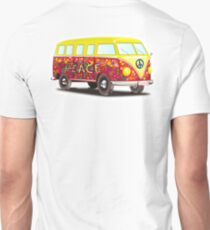 VW, Peace and Love, Van, Hippy, Hippies, Flower Power, Love in, 70s Unisex T-Shirt