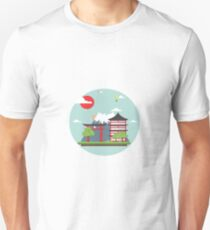 Oriental Japanese Mountain Sunset T-Shirt