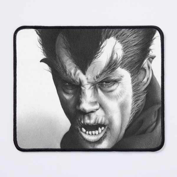 Werewolf of London fan art inspired by Henry Hull, based on my original hand-drawn graphite illustration Mouse Pad