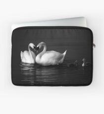 Swan Heart B&W Laptop Sleeve