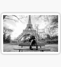 black and white picture in paris Sticker