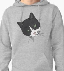 Green Eyed Tuxedo Pullover Hoodie