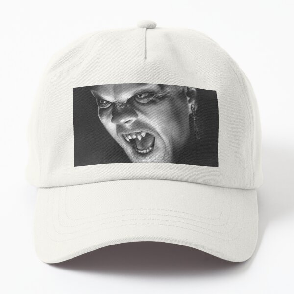 David from The Lost Boys fan art inspired by Kiefer Sutherland, based on my original hand-drawn graphite illustration Dad Hat